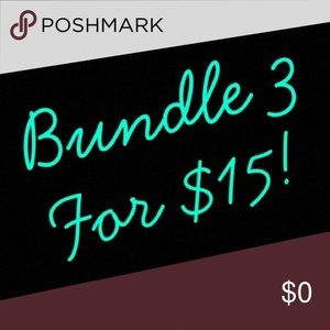 Items marked with ⭐️ are 3/$15! Create a bundle!!